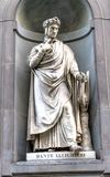 Dante Aligheri Statue Uffizi Gallery Florence Italy fotografia stock libera da diritti