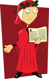 Dante Alighieri. A vector cartoon representing the Divina Commedia author Royalty Free Stock Photos