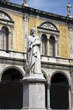 Dante Alighieri. Verona, Piazza dei Signori. View of Dante Statue royalty free stock image