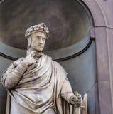Dante Alighieri en Florencia imagenes de archivo