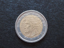 Dante Alighieri EUR mynt Arkivfoto