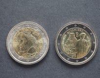 Dante Alighieri-Münzen Stockfoto