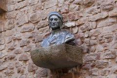 Dante Alighieri-monument Stock Afbeeldingen