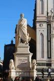 Dante Alighieri monument, poetry, Santa Croce square, Florence Stock Images