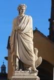 Dante Alighieri monument, poetry, Santa Croce square, Florence Stock Photography