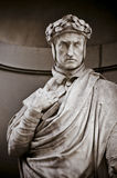 Dante Alighieri in the Niches of the Uffizi Colonnade. Royalty Free Stock Images