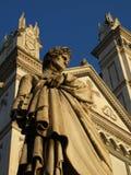 Dante Alighieri and Santa Croce church Stock Images