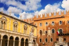 Dante Alighieri statue in Piazza dei Signori, Verona Royalty Free Stock Images