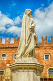 Dante Alighieri Statue, Verona Royalty Free Stock Photo