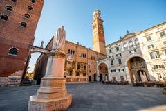 Dante Alighieri statue in Verona Stock Photo