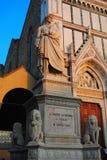 Dante Alighieri, w piazza Di Santa Croce fotografia royalty free