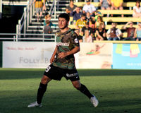 Dante Marini, Midfielder, Charleston Battery. Charleston Battery midfielder Dante Marini #19 Stock Photos