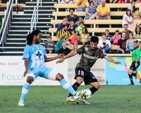 Dante Marini, Midfielder, Charleston Battery. Charleston Battery midfielder Dante Marini #19 Stock Photography
