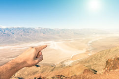 Dante's Peak in the desert of Death Valley Royalty Free Stock Images