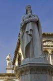 Dante's Statue. The famous poet, Dante's Statue in Verona Stock Photos