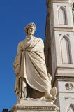 Dante's statue. At Basalica of Santa Croce ,Florence, italy . Dante was a major Italian poet of the late Middle Ages. His Divine Comedy, originally called Comed Stock Image