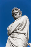 Dante's statue in Florence - Italy Royalty Free Stock Photos