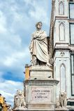 Dante's statue in Florence, Italy Royalty Free Stock Photo