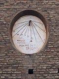 Dante's Sundial in Ravenna - ITALY, la Meridiana di Dante a Ravenna stock images