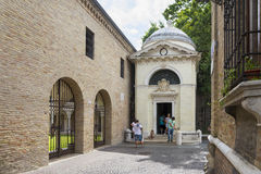 Dante's tomb in Ravenna Royalty Free Stock Photography