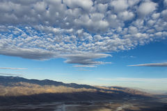 Dante's View, Death Valley National Park. Beautiful sky just after sunrise looking at lowest point in America Royalty Free Stock Image