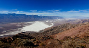 Dante`s view at death valley Royalty Free Stock Photo
