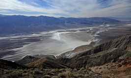 Dante& x27; s widok, Śmiertelna dolina fotografia stock