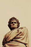 Dante sculpture in Florence Royalty Free Stock Photos
