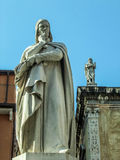 Dante sculpture in Verona Royalty Free Stock Photography