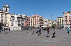Dante Square, Naples, Italy Stock Image