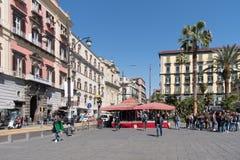 Dante Square, Naples, Italy Royalty Free Stock Photos