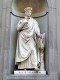 Dante Statue lizenzfreie stockfotos