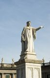 Dante Statue. Statue of Dante, Italy's greatest poet in piazza or square, Naples royalty free stock image