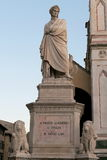 Dante Statue Royalty Free Stock Photography