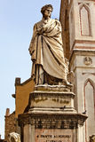 Dante Statue Basilica Santa Croce Florence Italy Royalty Free Stock Images