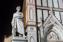 Dante statue in Florence Royalty Free Stock Images