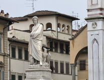 Dante statue in Florence, Italy Stock Images