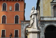Dante Statue in Verona Royalty Free Stock Photo