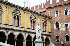 Dante statue, Verona Royalty Free Stock Photos