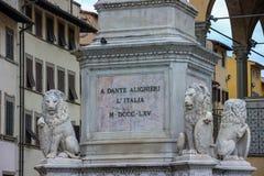 Dante staty Arkivbilder