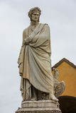 Dante staty Royaltyfri Fotografi