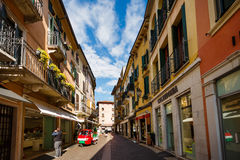 Dante ulica w Peschiera Fotografia Royalty Free