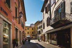 Dante ulica w Peschiera Fotografia Stock