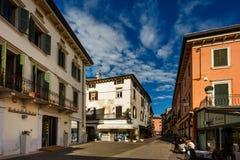 Dante ulica w Peschiera Zdjęcie Stock