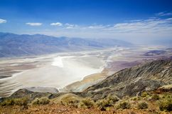 Dante Viev dans Death Valley, parc national Photographie stock libre de droits