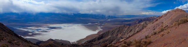 Dante widok Przegapia w Śmiertelnym Dolinnym parku narodowym zdjęcia stock