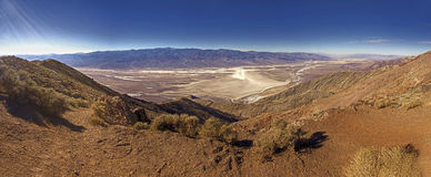 Dantes点全景在死亡谷美国 免版税库存照片