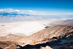 Dantes view in death valley Stock Photography