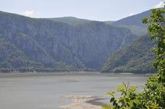 Danube à la gorge de Cazane en Roumanie Image stock