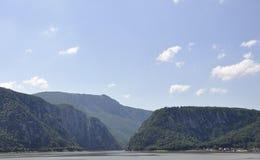 Danube à la gorge de Cazane en Roumanie Photographie stock